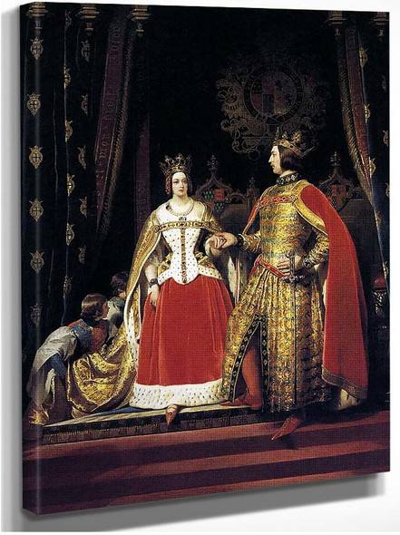 Queen Victoria And Prince Albert At The Bal Costume By Landseer Sir Edwin Henry