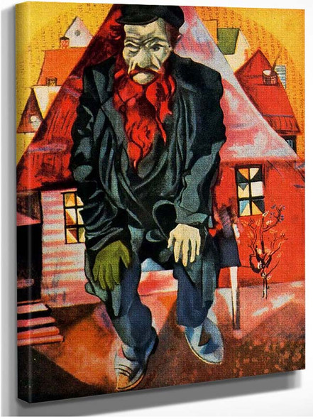 Red Jew 1915 By Marc Chagall