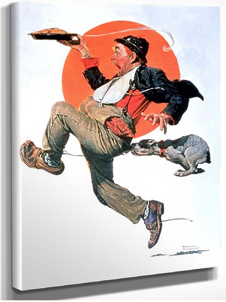 Running With Pie By Norman Rockwell