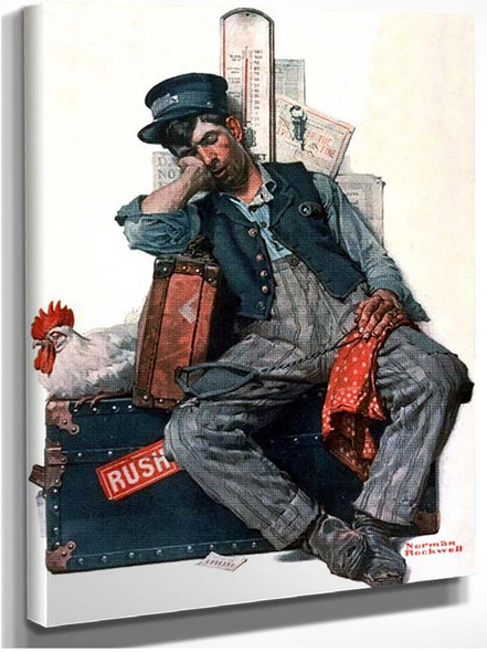 Rush By Norman Rockwell