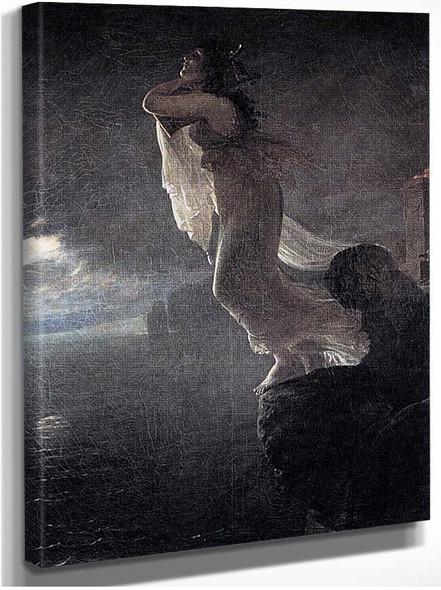 Sappho At Leucate By Gros Antoine Jean