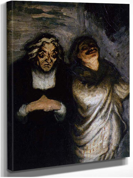 Scene From A Comedy By Daumier Honore