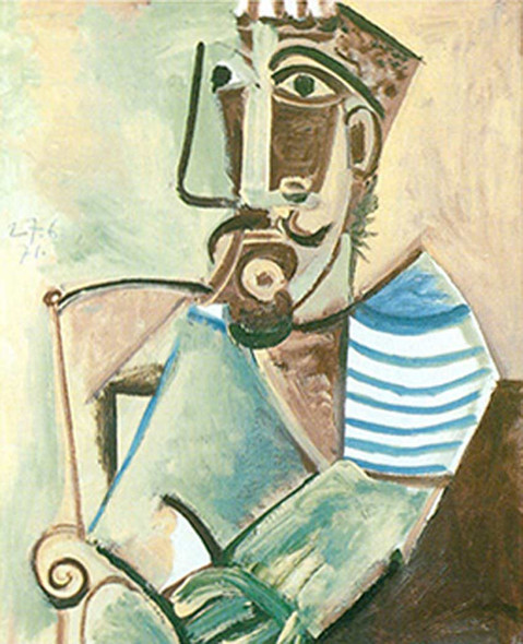 Seated Man By By Pablo Picasso Art Reproduction from Wanford