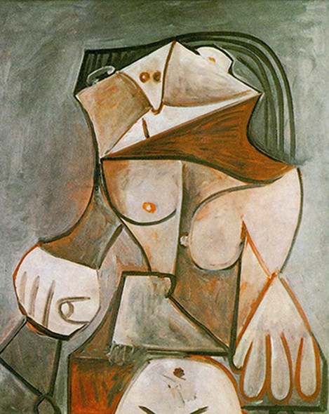 Seated Nude By By Pablo Picasso Art Reproduction from Wanford