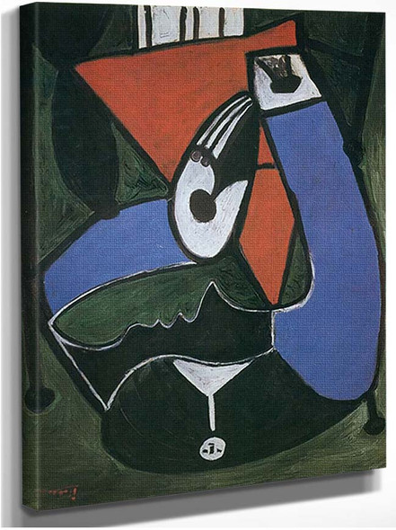 Seated Woman In An Armchair By Pablo Picasso