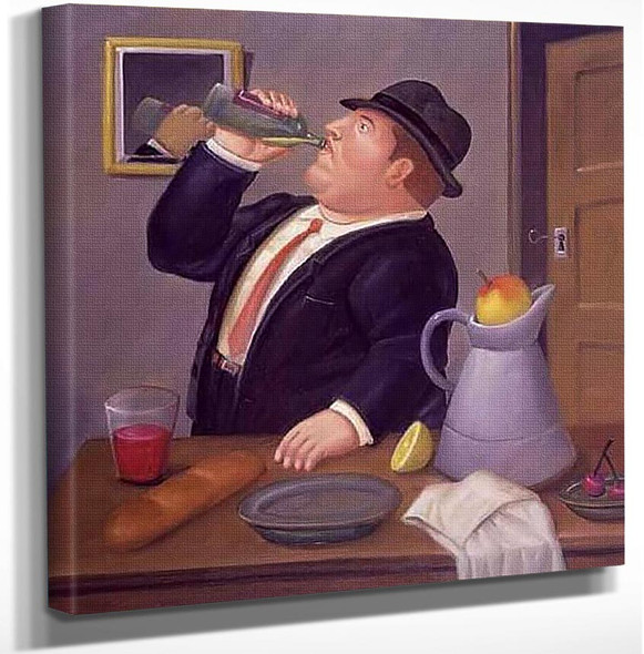 Hombre Tormando By Fernando Botero Art Reproduction from Wanford.