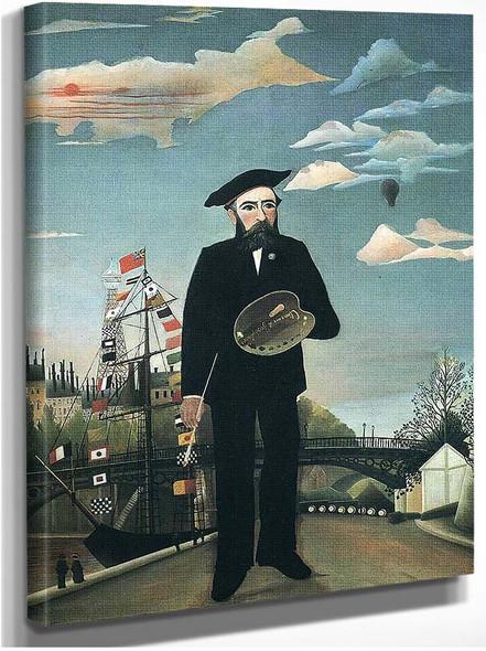 Self Portrait From L Ile Saint Louis 1890 By Henri Rousseau