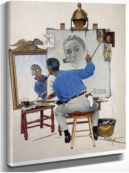 Self Portrait By Norman Rockwell