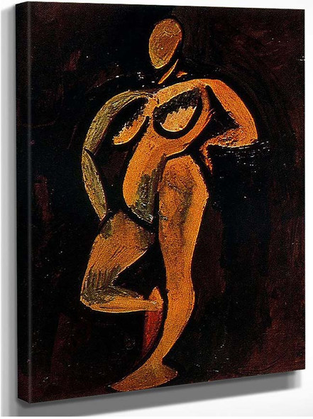 Standing Nude 1908 By Pablo Picasso