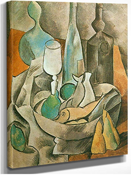 Still Life With Fishes And Bottles By Pablo Picasso