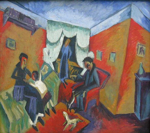 Interieur By Ernst Ludwig Kirchner Art Reproduction from Wanford.