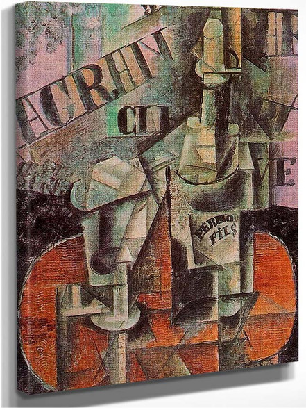 Table In A Cafe Bottle Of Pernod 1912 By Pablo Picasso