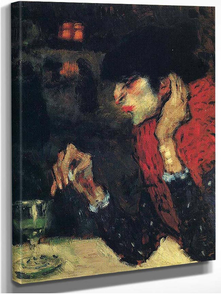 The Absinthe Drinker 1901 1 By Pablo Picasso