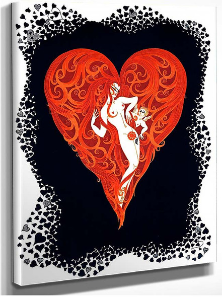 The Aces Hearts By Erte