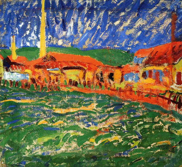 Landscape Near Rome By Erich Heckel Art Reproduction from Wanford.