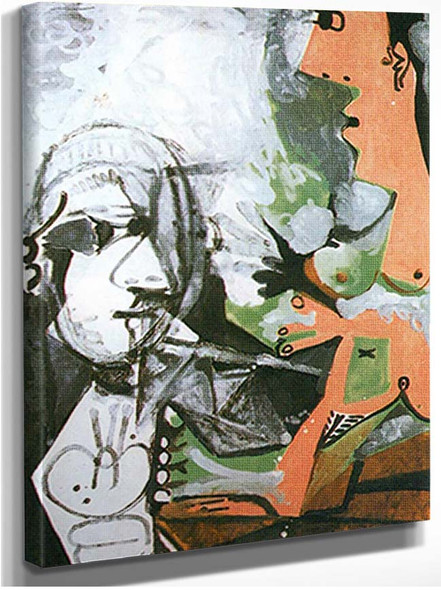 The Artist And His Model 6 By Pablo Picasso
