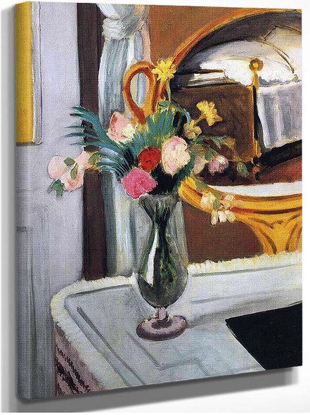 The Bed In The Mirror By Henri Matisse