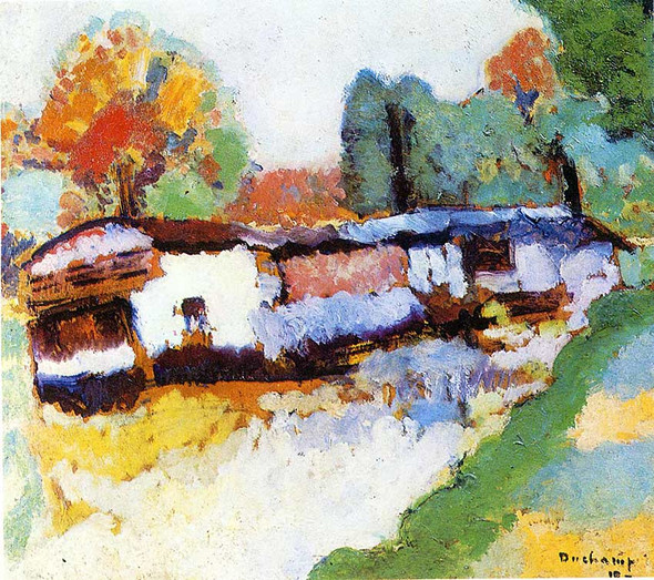 Laundry Barge 1910 By Duchamp Marcel Art Reproduction from Wanford.