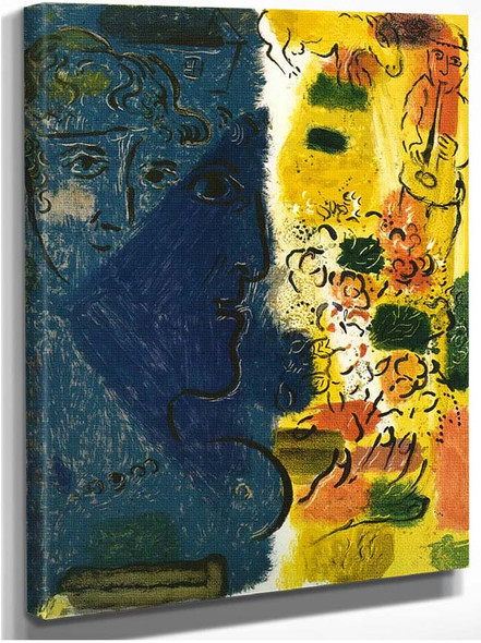 The Blue Face 1967 By Marc Chagall