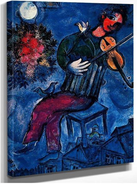 The Blue Fiddler 1947 By Marc Chagall