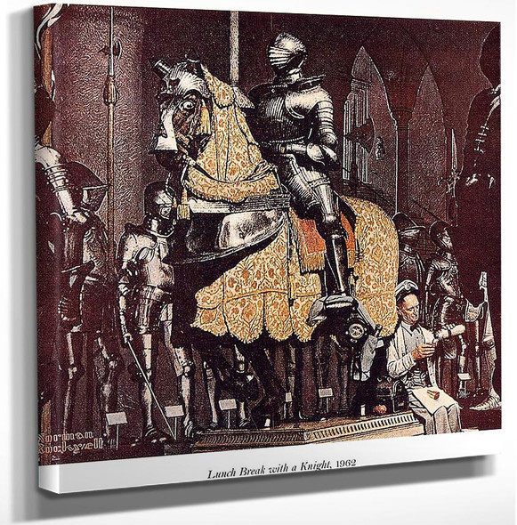 Lunch Break With A Knight By Norman Rockwell Art Reproduction from Wanford.