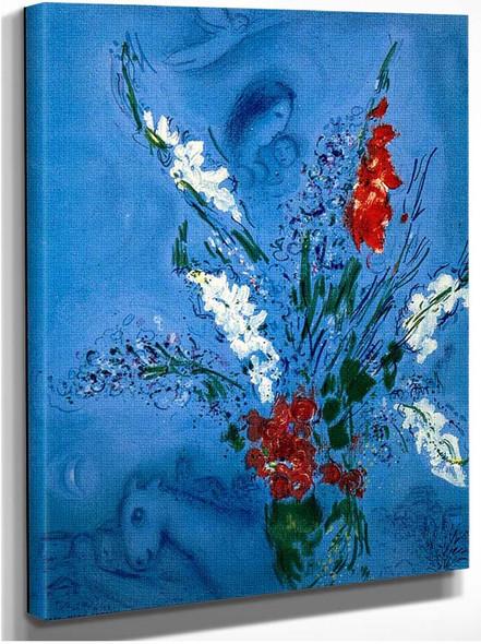 The Gladiolas 1967 By Marc Chagall