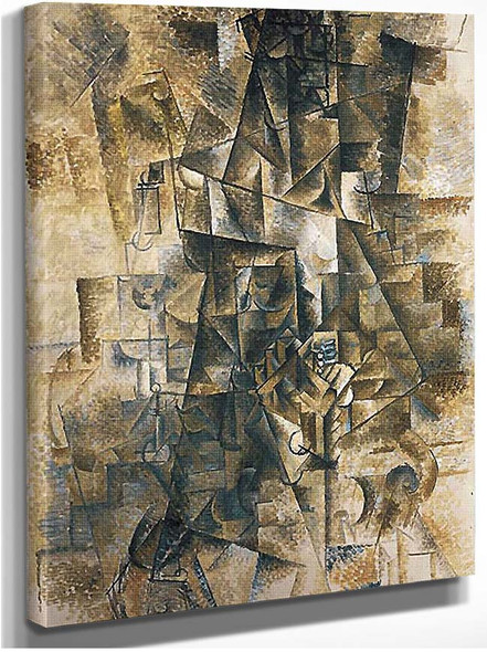 The Piano Accordionist 1911 By Pablo Picasso
