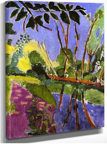 The Riverbank 1907 By Henri Matisse