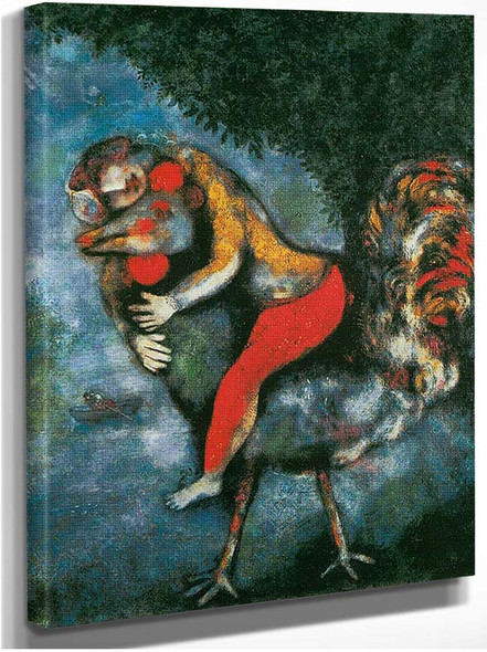 The Rooster By Marc Chagall