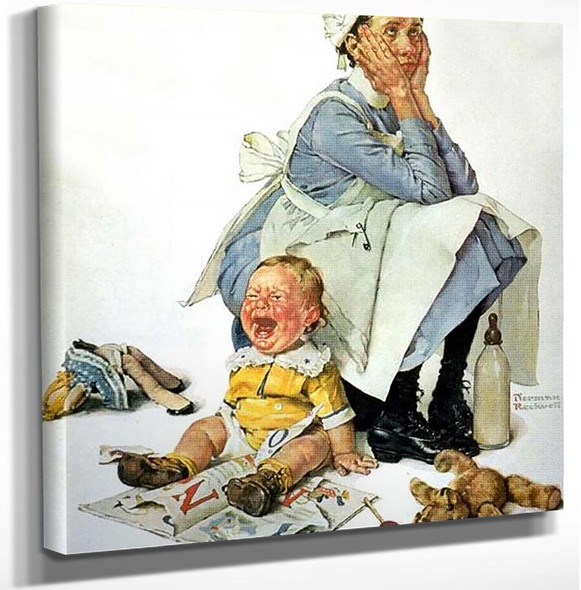 Nanny By Norman Rockwell Art Reproduction from Wanford.
