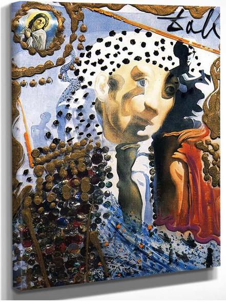 The Whole Dali In A Face By Salvador Dali