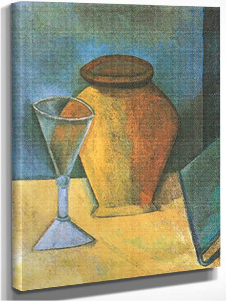The Wine Glass And Book By Pablo Picasso
