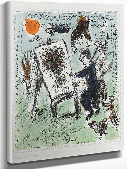 The Winged Painter 1984 By Marc Chagall