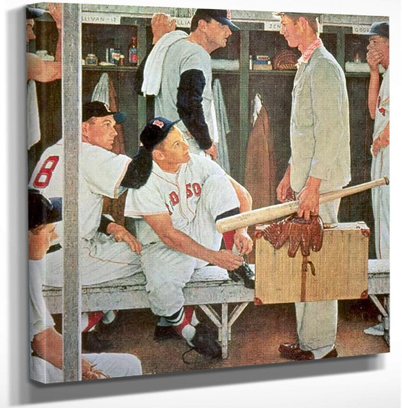 New Player By Norman Rockwell Art Reproduction from Wanford.