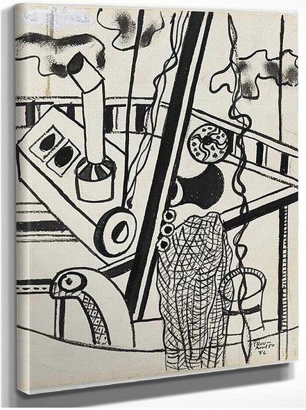 Trouville 1950 By Fernand Leger