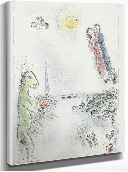 Two Banks 1980 By Marc Chagall