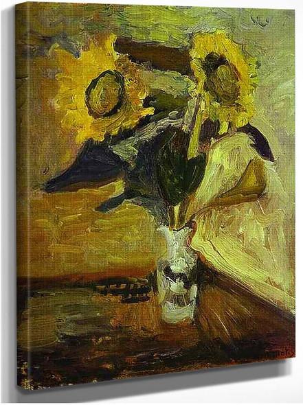 Vase Of Sunflowers 1898 By Henri Matisse