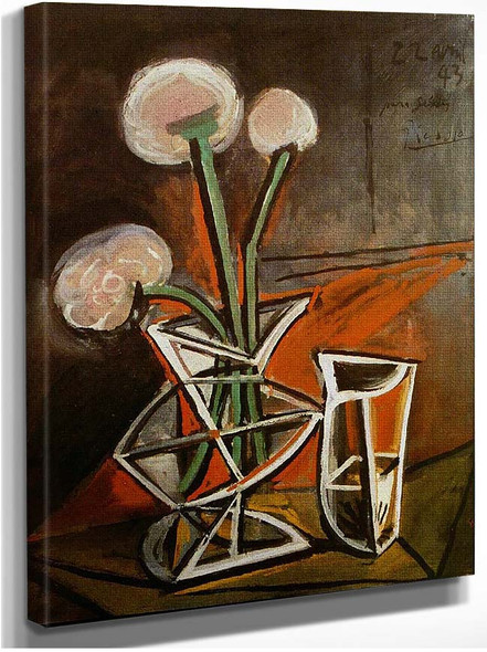 Vase With Flowers 1943 By Pablo Picasso
