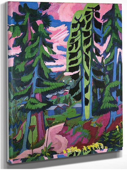 Wildboden Mountains Forest 1928 By Ernst Ludwig Kirchner