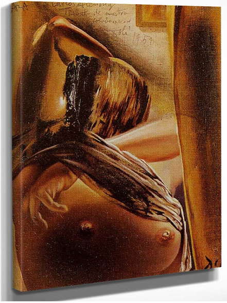 Woman Undressing By Salvador Dali
