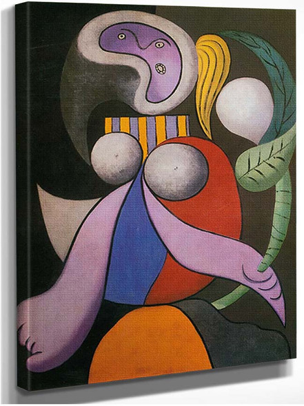 Woman With A Flower By Pablo Picasso