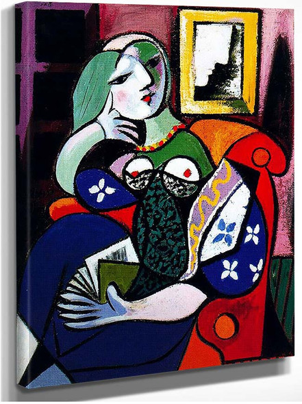 Woman With Book 1932 By Pablo Picasso