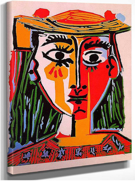 Woman With Hat 1962 By Pablo Picasso