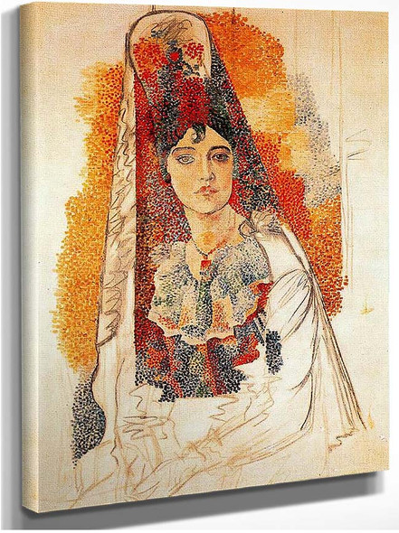 Woman With Spanish Dress 1917 By Pablo Picasso
