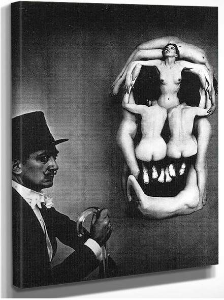 Women Forming A Skull By Salvador Dali