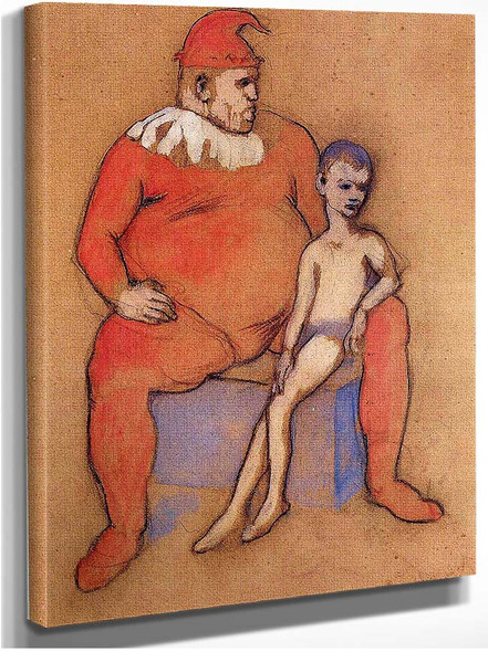 Young Acrobat And Clown 1905 By Pablo Picasso