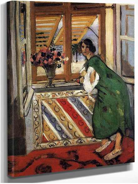 Young Girl In A Green Dress 1921 By Henri Matisse
