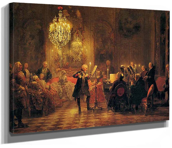 A Flute Concert Of Frederick The Great At Sanssouci By Menzel Adolph Von