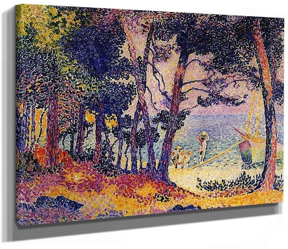 A Pine Wood Provence By Henri Edmond Cross