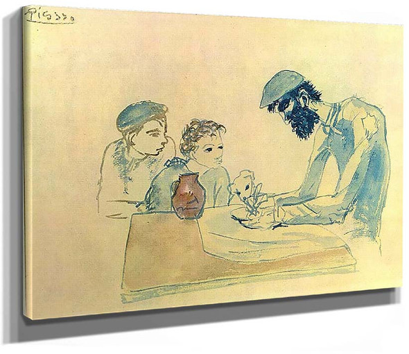 A Simple Meal 1904 1 By Pablo Picasso